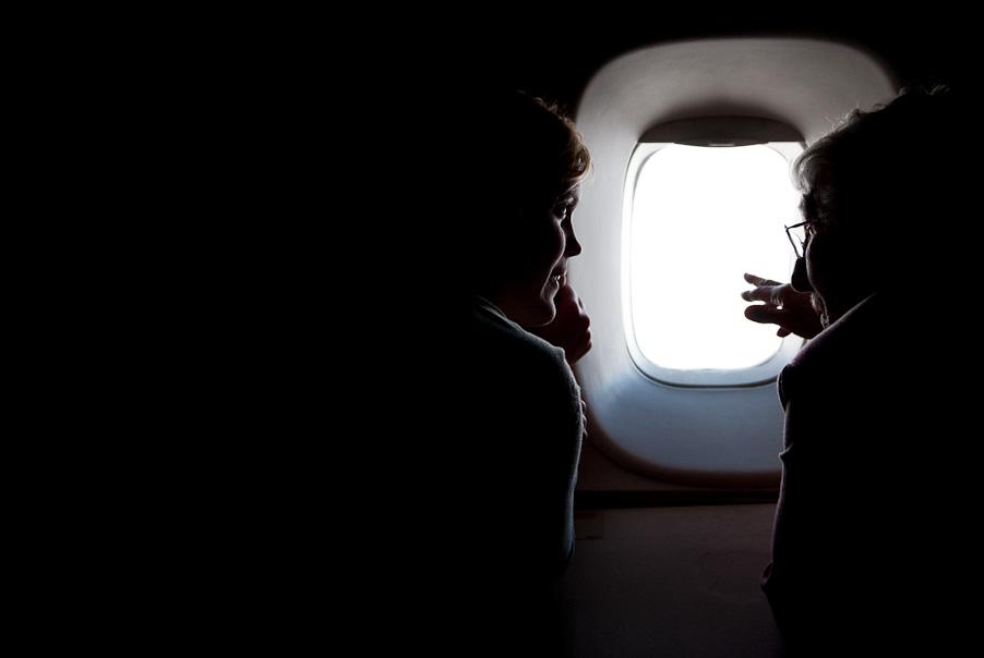 Gesprekken in het vliegtuig
