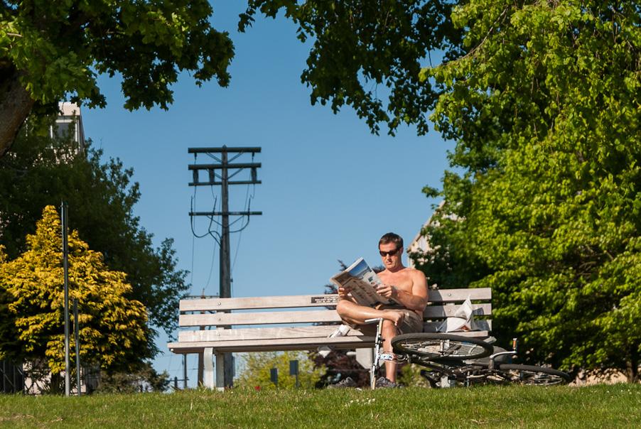 Warm weer in Vancouver