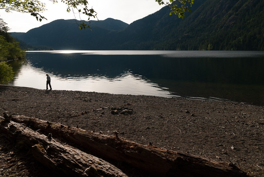 Zomaar een meer op Vancouver Island, BC