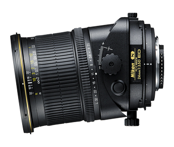 Nikon Nikkor pc-e 24mm f/3.5 ED Tilt-Shift wide angle lens