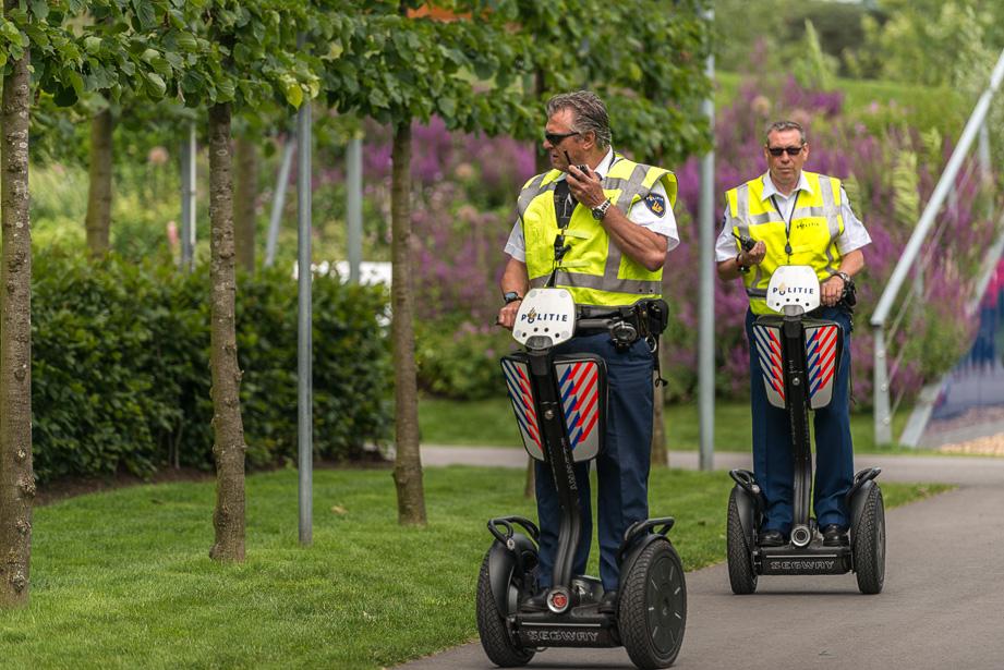 Politie beveiliging op de Segway