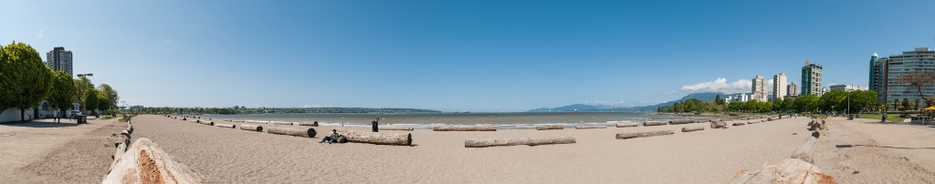 Panorama of English Bay (English Beach) in Vancouver, BC, Canada