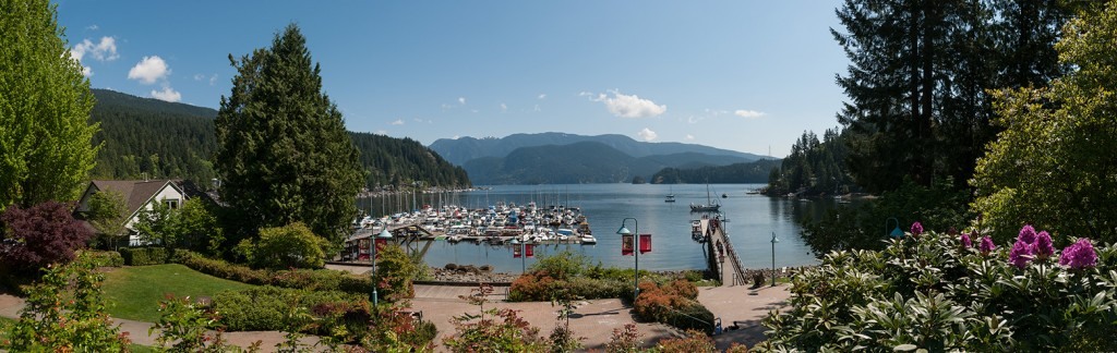 Deep Cove, BC panorama stitched photo