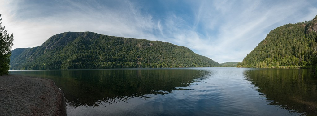 Random lake on Vancouver Island, BC, Canada