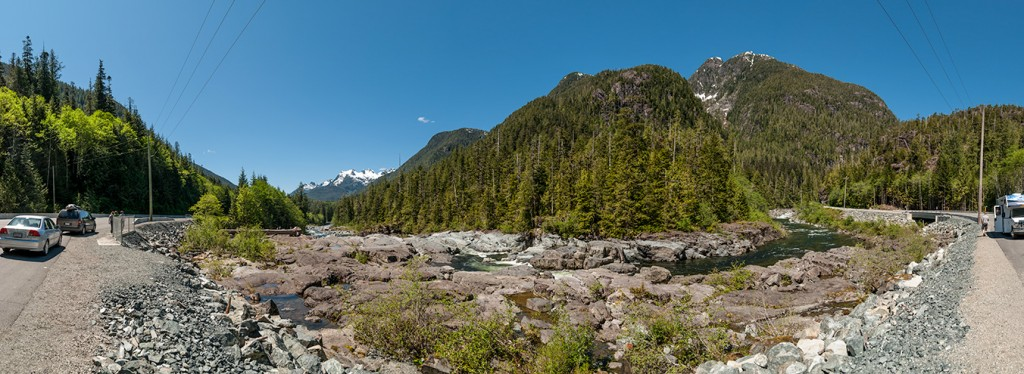 Epic landscape panorama stitched photo of Vancouver Island, BC, Canada