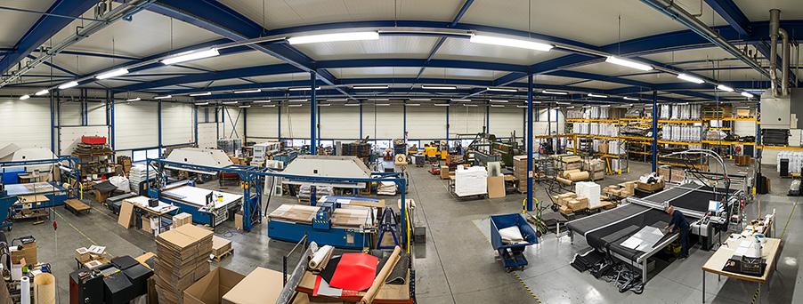 Bedrijfsfoto panorama werkplaats