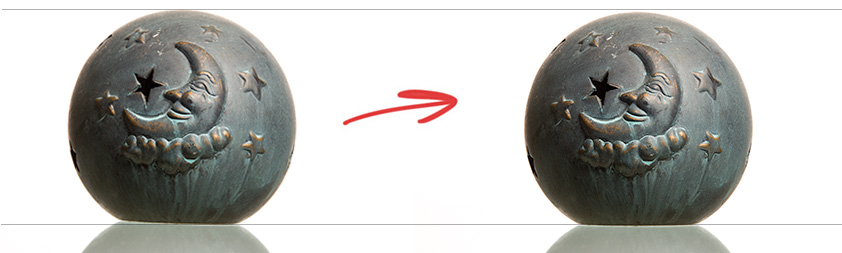 Horizon correctie bij nabewerking productfoto's