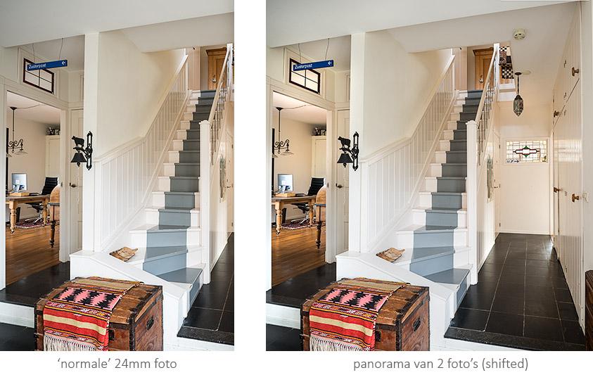 Tilt-shift panorama woningfotografie