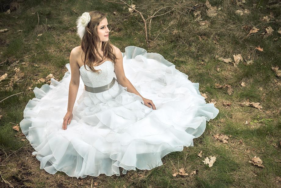 Bruidsjurken fotograferen op locatie