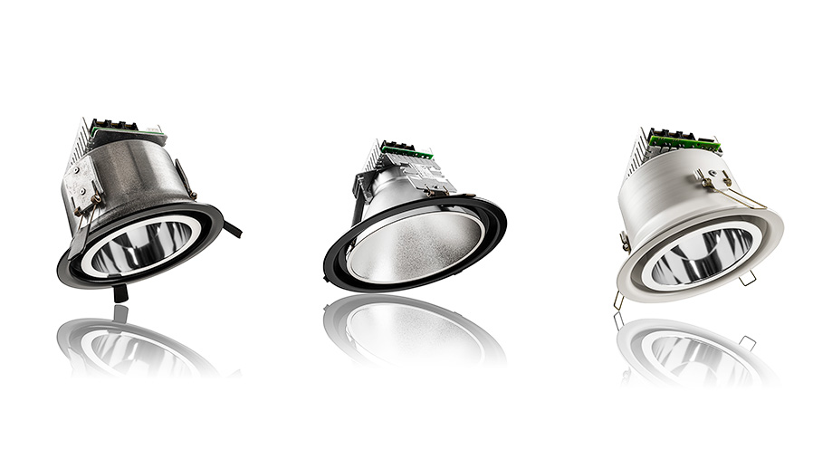 Productfotografie van LED lamp armaturen