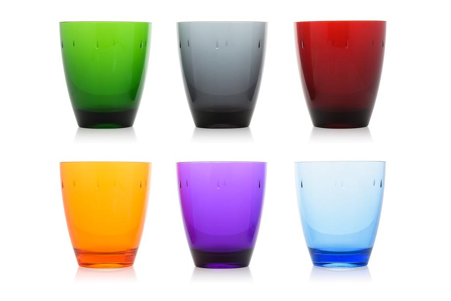 gekleurde onbreekbare plastic glazen