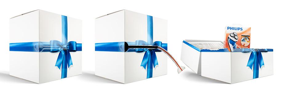 Productfotografie van philips doos verpakking