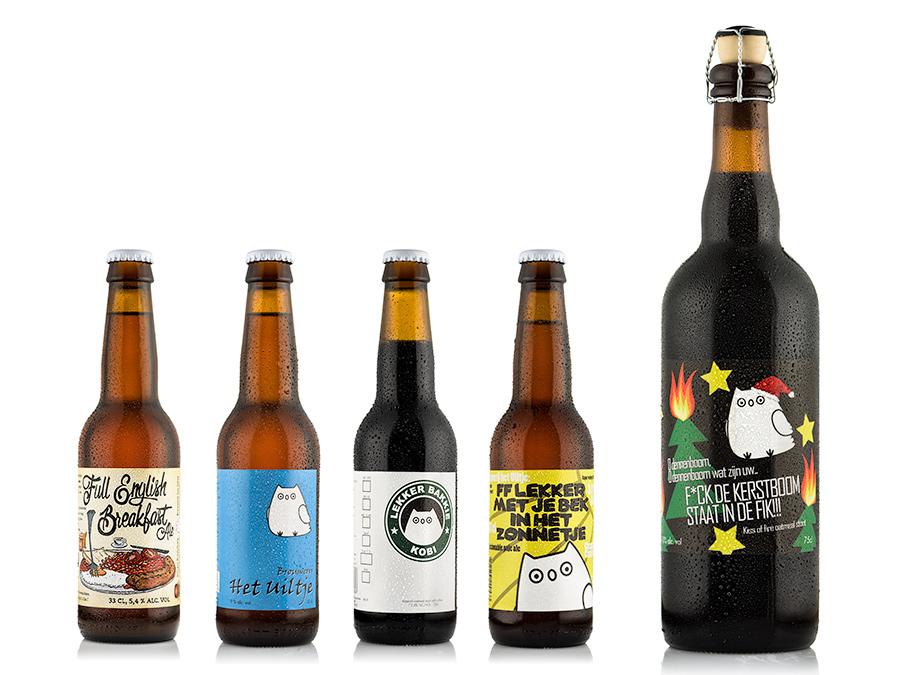 Bierflesjes brouwerij het Uiltje