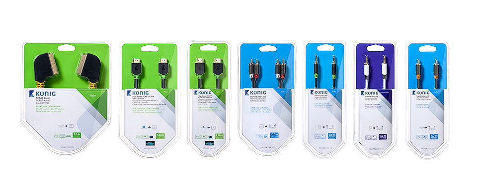 Konig HDMI kabels packshot collage