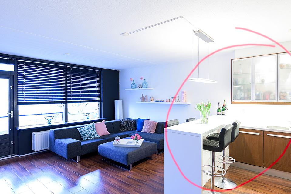 interieurfotografie samenvoegen in photoshop