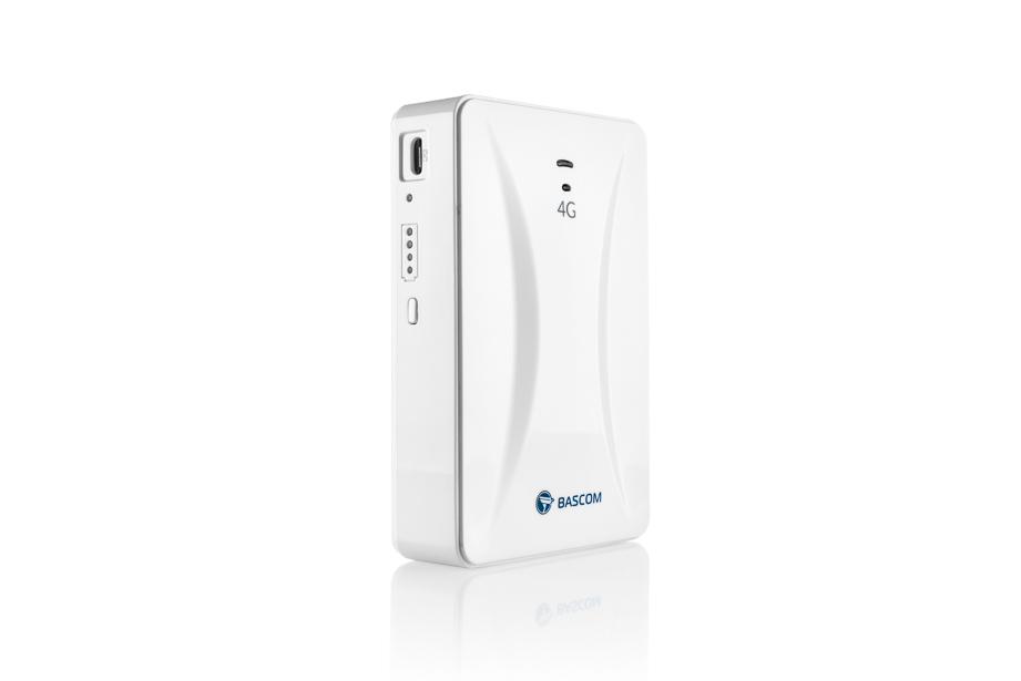 Productfotografie van een witte router