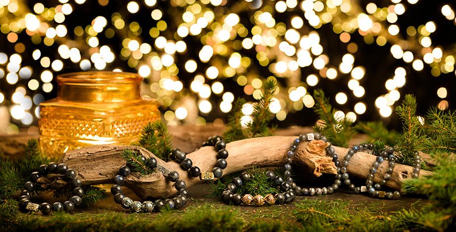 Kerst sfeerfoto's van stoere armbanden