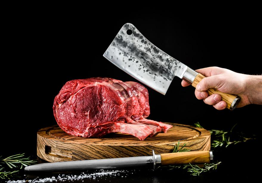 Sfeerfotografie van slagersmessen