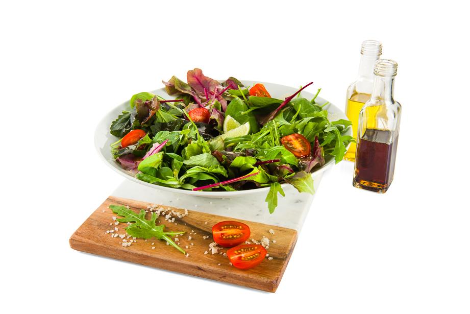 foodstyling van sla salade