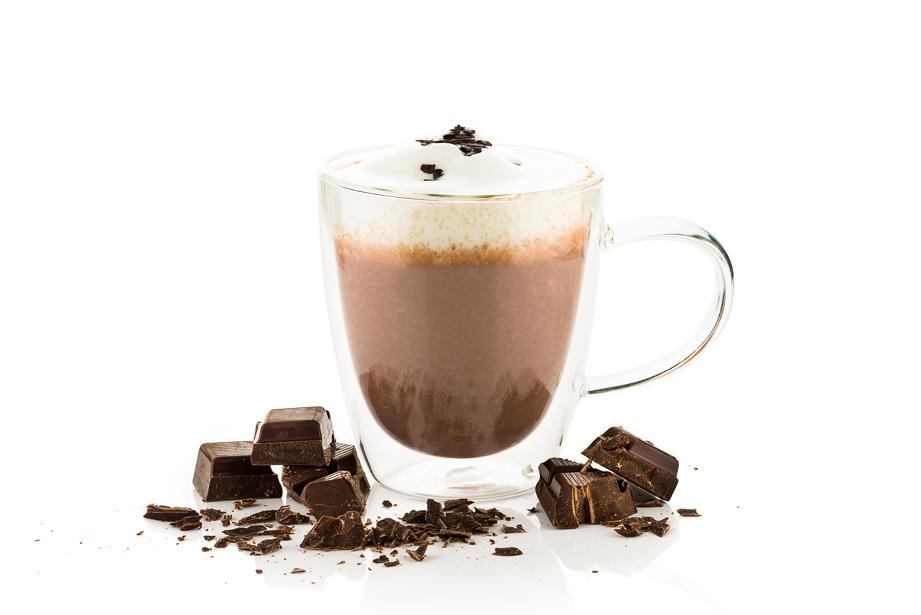 Warme chocolademelk fotostyling